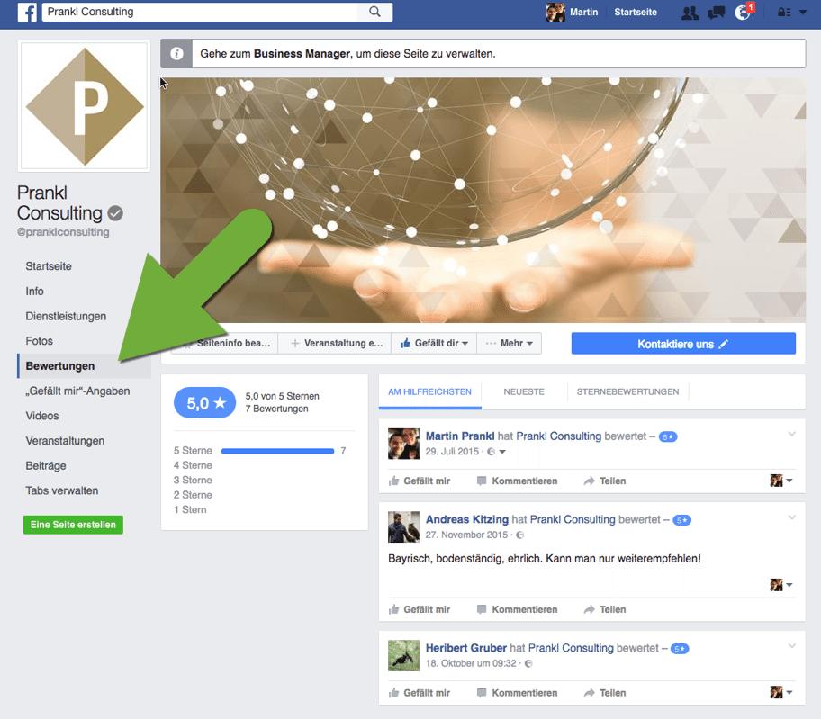 Prankl Consulting Bewertung Facebook