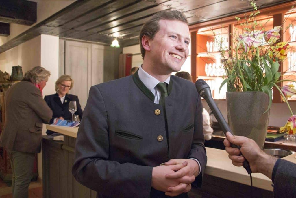 Brauereichef Franz Inselkammer im Interview im August und Maria.