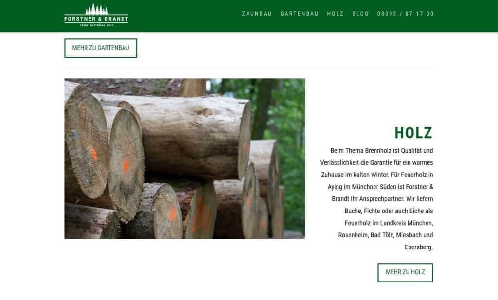 Neue Webseite Kleinunternehmen München www.forstner-brandt.de