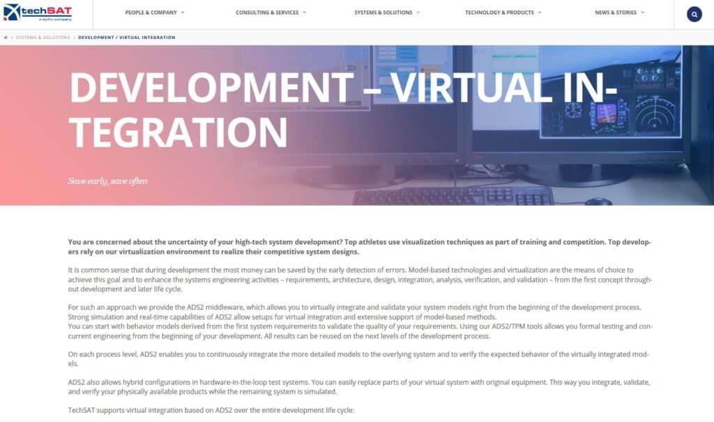 www.techsat.com TechSAT Poing development virtual integration