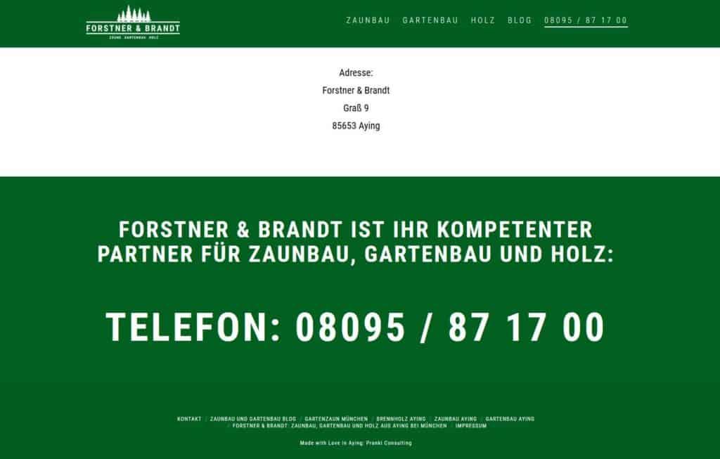 Web-Service München neuer Internetauftritt www.forstner-brandt.de