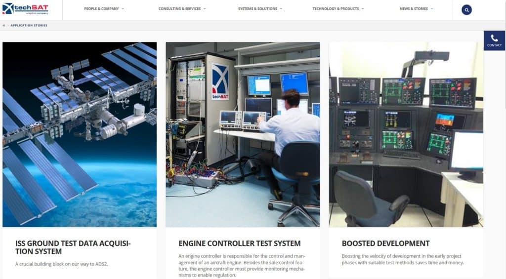 www.techsat.com TechSAT Poing application stories