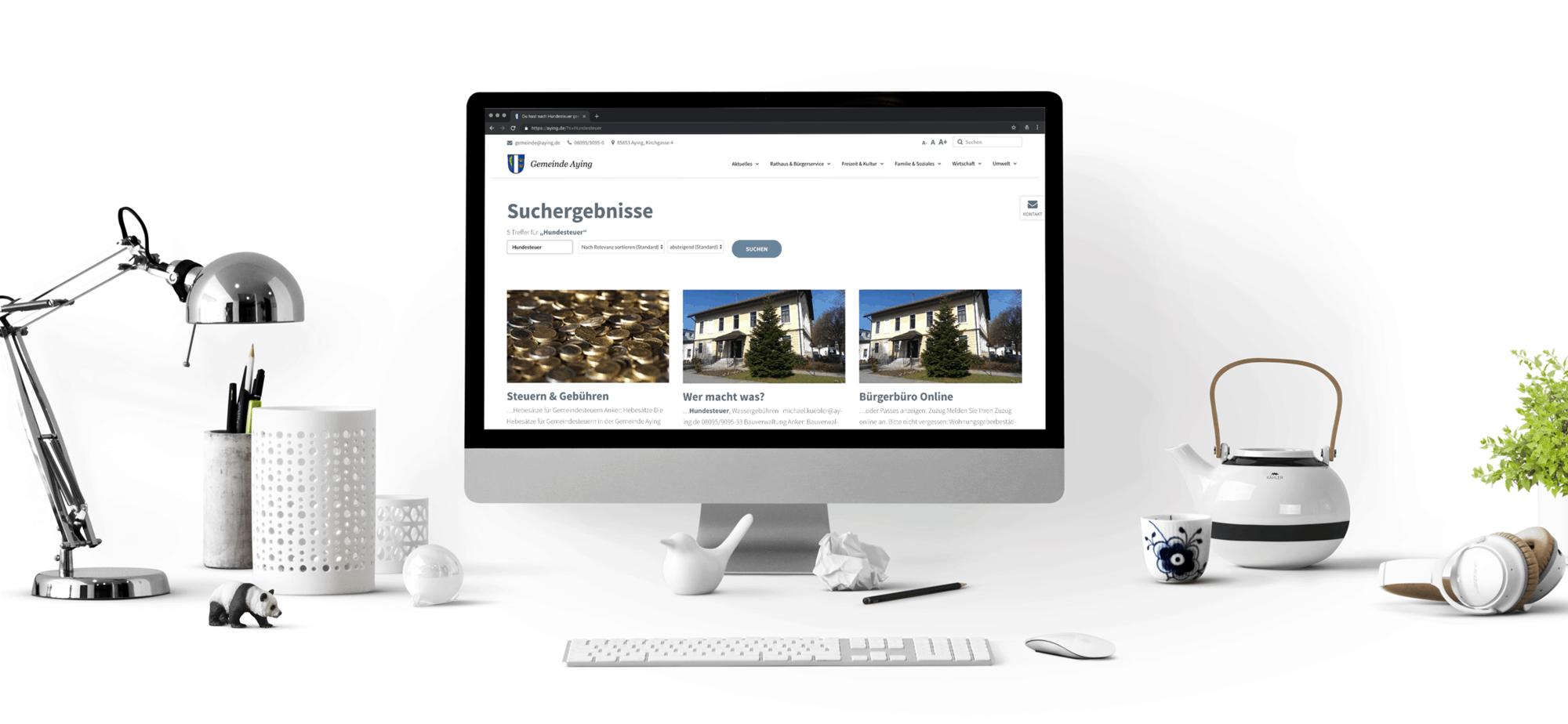 Website für Gemeinde Aying