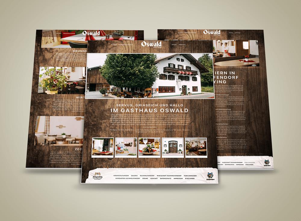 Webdesign Aying: Das Gasthaus Oswald