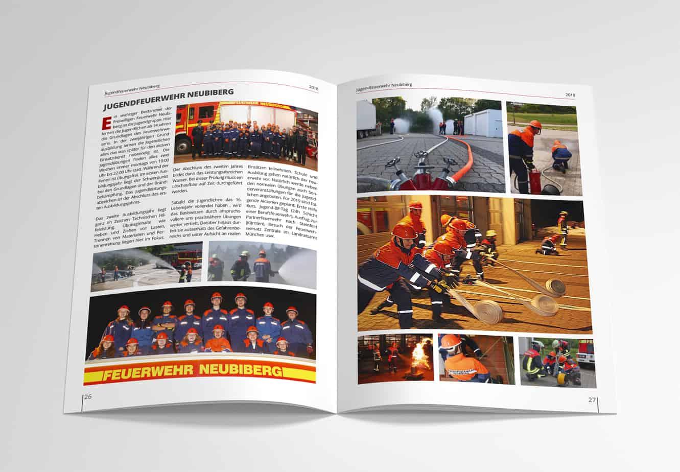 Werbeagentur Neubiberg Jahresbericht für Feuerwehr Design