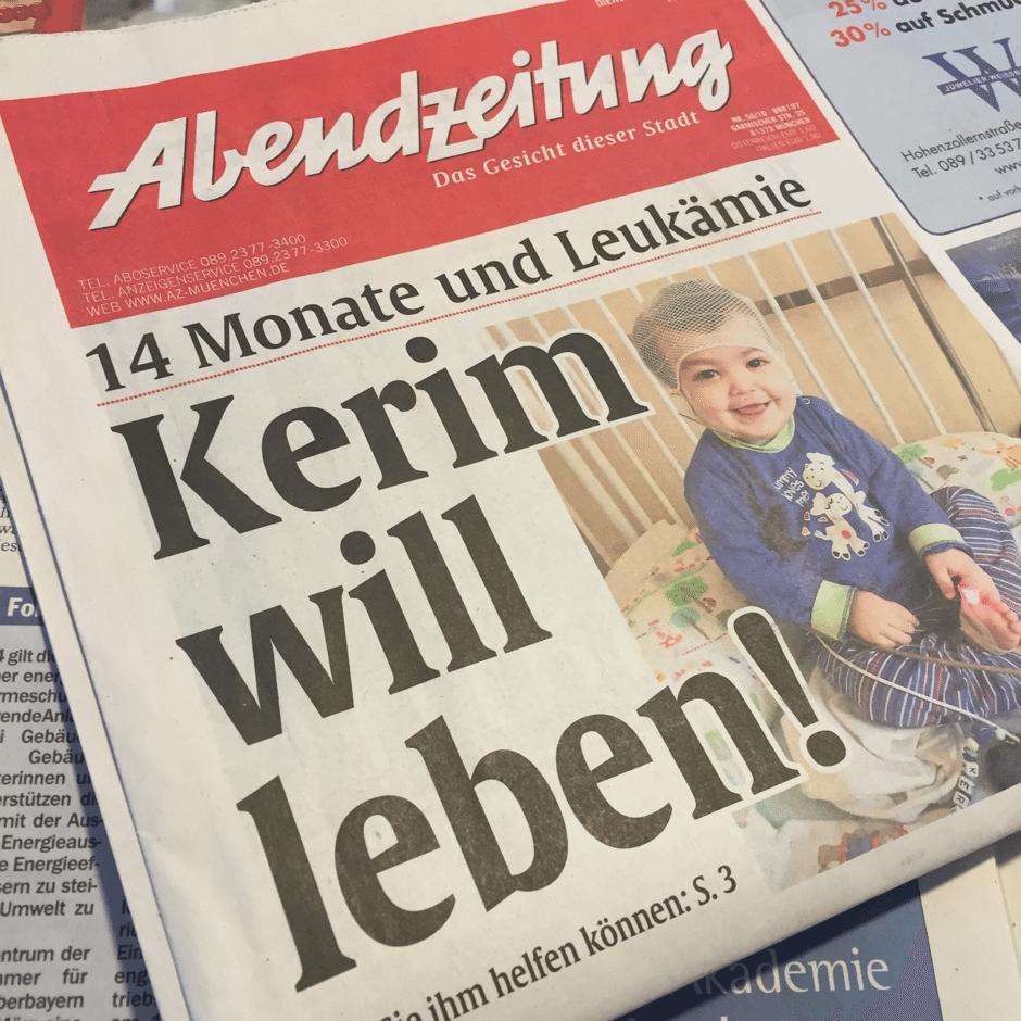Pressekonferenz in München organisieren: Titelseite für Stiftung AKB