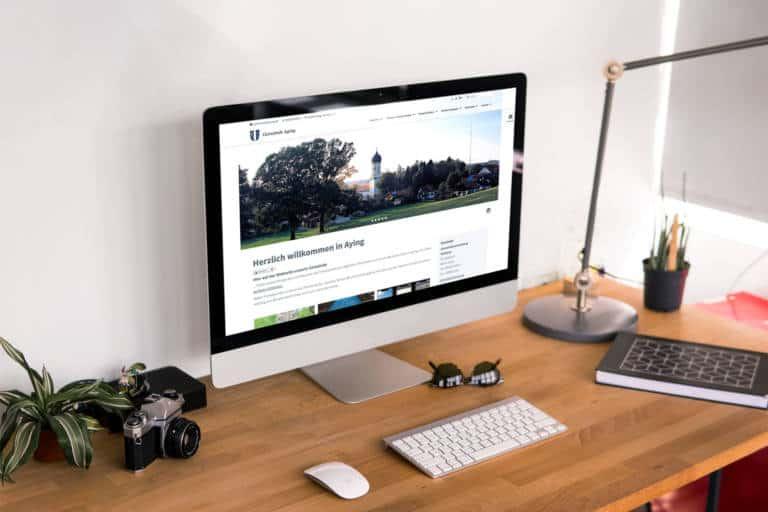 Website für Gemeinde