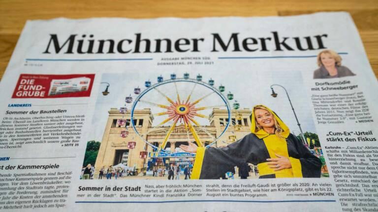 Riesenrad Willenborg auf der Titelseite Münchner Merkur